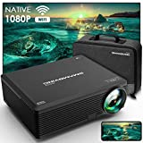 Proyector, SMAMOVING Full HD 1920*1080P Nativo Soporta 4K Proyector WiFi,Proyector Portátil,Compatible con Smartphone ,PC ,TV Stick/Box ,HDMI,USB,PS4 / 5
