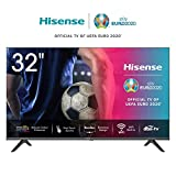 Hisense HD TV 2020 32AE5500F - Smart TV Resolución Full HD, Natural Color Enhancer, Dolby Audio, Vidaa U 2.5 con IA, HDMI, USB, Salida auriculares